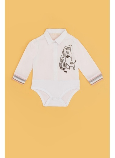 BG Baby Kız Bebek Beyaz Gömlek 20Fw0Bg2604 Beyaz